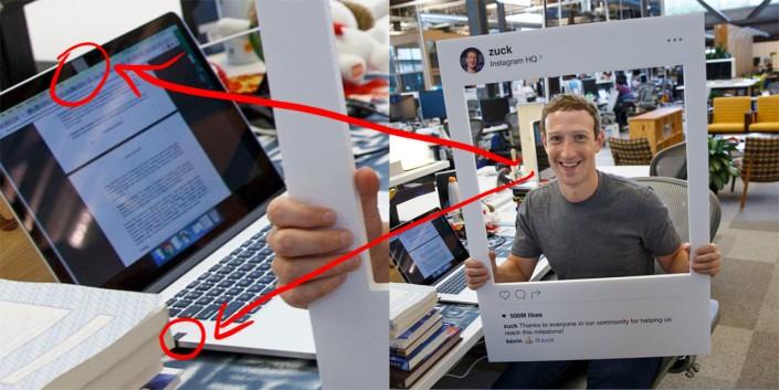 Марк Цукерберг заклеивает камеру ноутбука